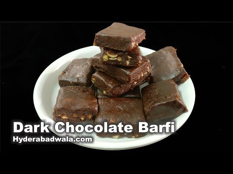 Dark Chocolate Barfi - Dark Chocolate Ki Burfi - Easy & Simple