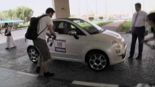 Road trip to Qatar with Fiat 500: the make-up