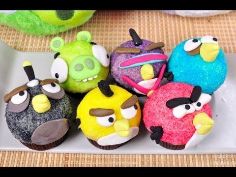 แองกี้เบิร์ดคัพเค้ก Angry Bird Cupcake