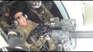 Minigun Fired From Mi-17 Helicopter Near Kabul, Afghanistan