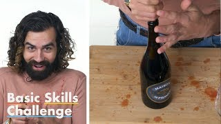 50 People Try to Open a Bottle of Wine | Epicurious