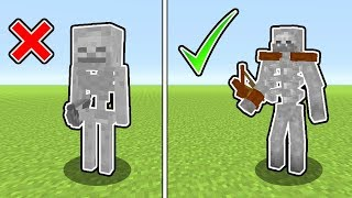 Minecraft : 10 SECRET Skeleton Tips And Tricks (Ps3/Xbox360/PS4/XboxOne/PE/MCPE)