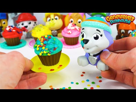 Learn Colors with Paw Patrol Cupcakes and Pororo the Little Penguin Toy Bus!