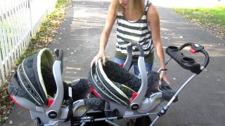 Twin Source: How it works—The Snap & Go Double Stroller