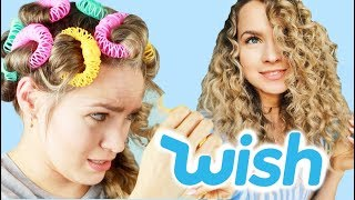 Testing Weird Hair Rollers from WISH (Pulled out my hair?!!) - KayleyMelissa
