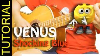 Como tocar VENUS de SHOCKING BLUE en Guitarra chords tab cover
