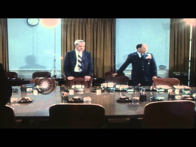 United States Joint Chiefs of Staff with Secretary of Defense Schlesinger in a co...HD Stock Footage