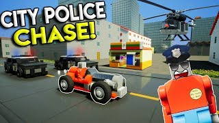 LEGO CITY POLICE CHASE & AIRPORT GETAWAY! - Brick Rigs Multiplayer Gameplay - Cops vs Robbers