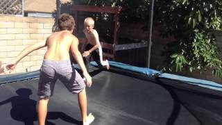 WWE Tag Team Match (Trampoline)