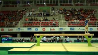 Rio de Janeiro - Test Event: Lara Mori / Trave (qualifiche)