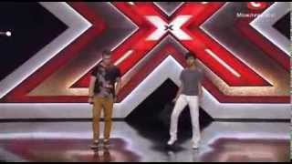 "дует ""TWO VOICES"" - Beggin (Madcon cover)   х-фактор 4 (05.10.2013)"