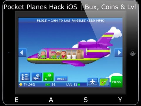 Pocket Planes Hack Bux. Coins and Level hack NO-Jailbreak iOS All