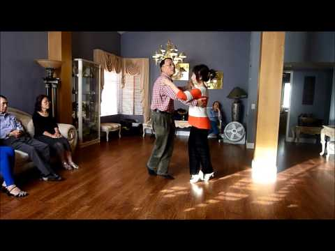 Ballroom dancing - Nightclub Two Step for slow dancing (teach and demo)