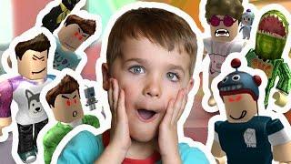 ESCAPING EVIL DENIS , ALEX , SUB , CORL , DANTDM , RONALDOMG | Roblox Escape Evil Youtubers Obby !