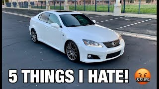 5 Things I HATE About The Lexus ISF