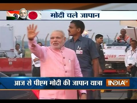 PM Narendra Modi leaves for Japan