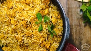 Paneer Biryani Recipe - Restaurant Style | Indian Main Course Recipes