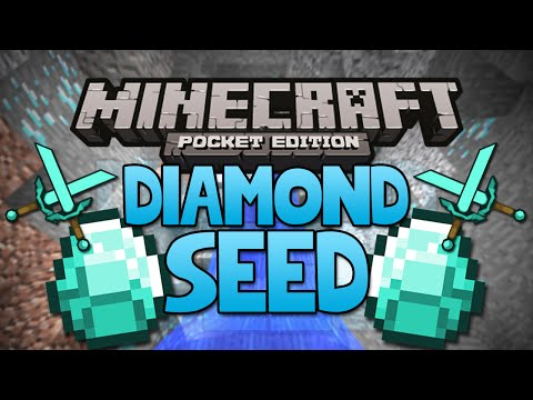 NEW DIAMOND SEED Minecraft Pocket Edition Seed Rare Village Seed