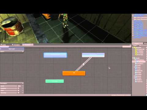 Stealth game tutorial - 202 - Player Animator Controller - Unity Official Tutorials