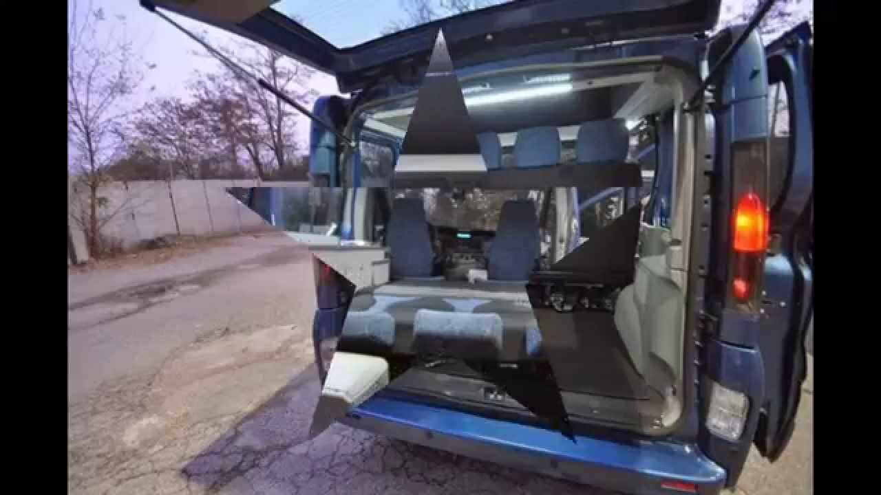 renault trafic y opel vivaro desde furgoneta a camper. Black Bedroom Furniture Sets. Home Design Ideas
