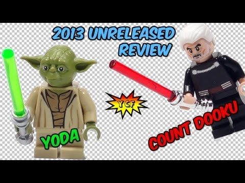 LEGO Star Wars Yoda & Count Dooku Minifigure Review 2013 Summer Set 75017 Duel on Geonosis