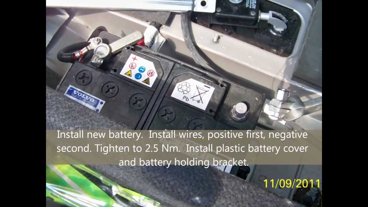how to replace battery in volvo s60 v60 xc60 s80 v70 xc70 autos post. Black Bedroom Furniture Sets. Home Design Ideas