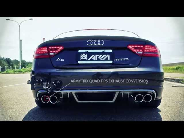 Audi A5 2.0 TFSI Pure Exhaust Sounds With Armytrix ...
