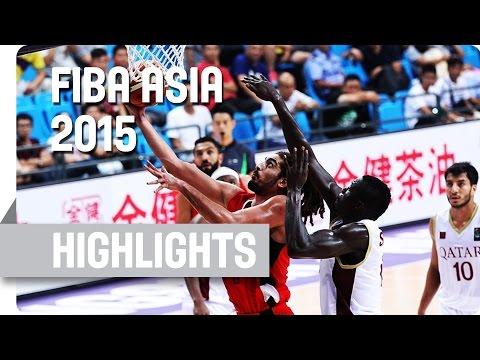 Qatar v Jordan - Group F - Game Highlights - 2015 FIBA Asia Championship