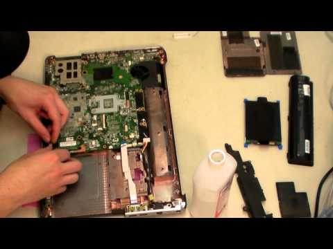 HP DV6 Take Apart/Disassembly for CPU FAN Replacement