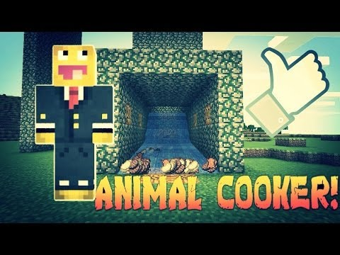 MCPE  Automatic Animal Cooker