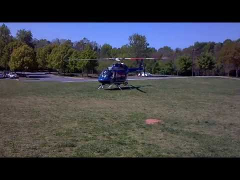 Super Science Day Helicopter Takeoff at Covenant Day School