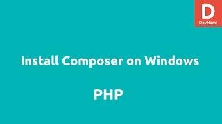 Install Composer on Windows