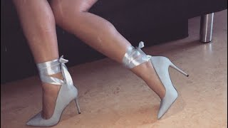 DIY Lace Up Heels with a BOW I high Heels mit Schnürrung & einer Schleife I Marina Si