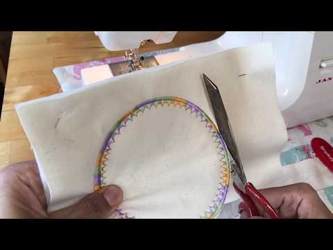 Cool sewing gadgets - circle attachment for a perfect circle
