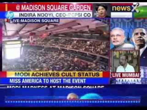 Ahead Of Pm Narendra Modi's Speech Crowds Gather At Madison Square Garden video