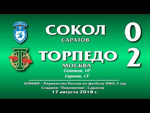 Сокол(Саратов) - Торпедо Москва 0:2. Обзор матча