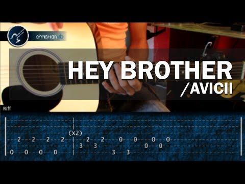 Como Tocar Hey Brother Avicii En Guitarra Acustica (hd) Tutorial Acordes video