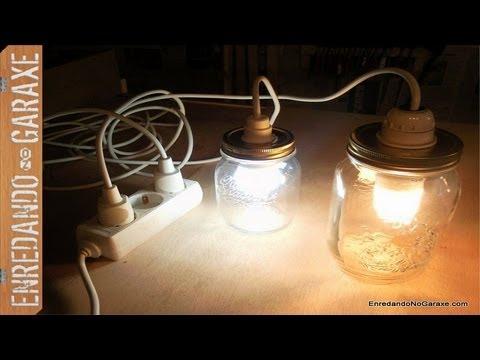 C mo hacer una l mpara con tarros de cristal marmelade - Como hacer una lampara rustica ...