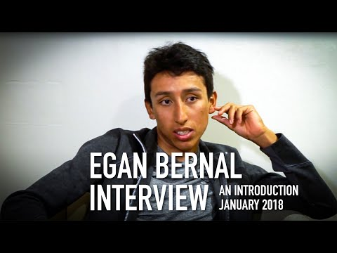 Talking cycling with Egan Bernal of Team Sky