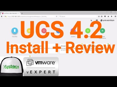 Univention Corporate Server (UCS) 4.2 Installation + Review + VMware Tools on VMware Workstation
