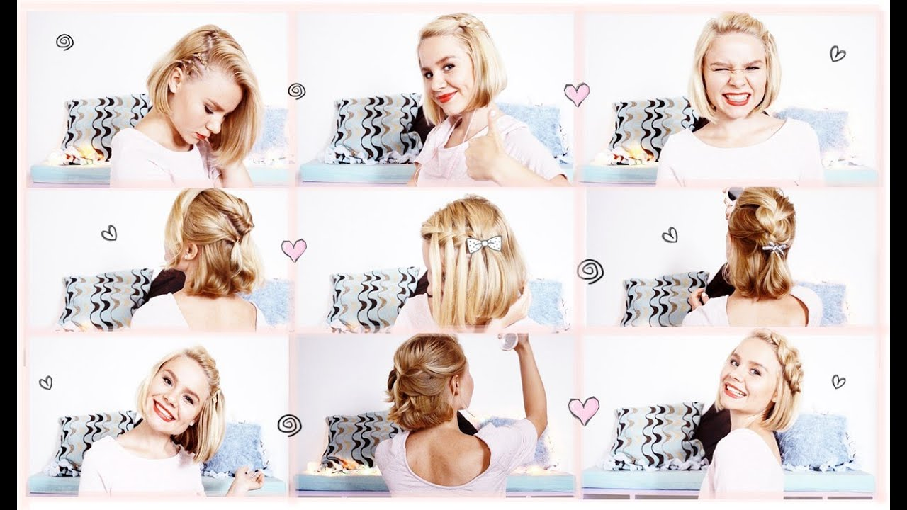 Прически на короткие волосы своими руками в домашних условиях с челкой