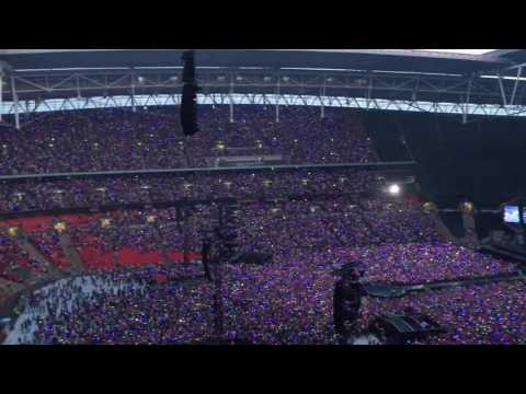 Coldplay at Wembley Stadium, View from Block 503, Row 13, Seat 84