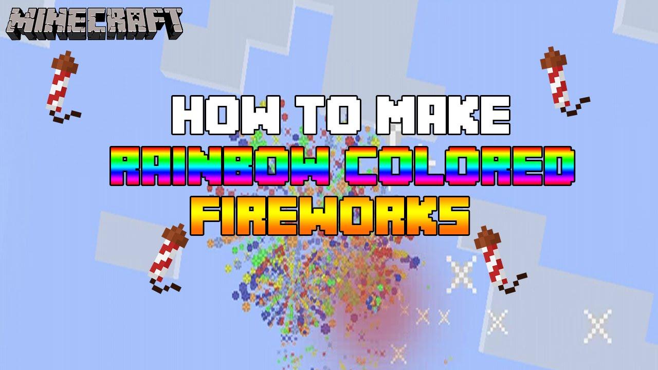 Rainbow Colored Firework