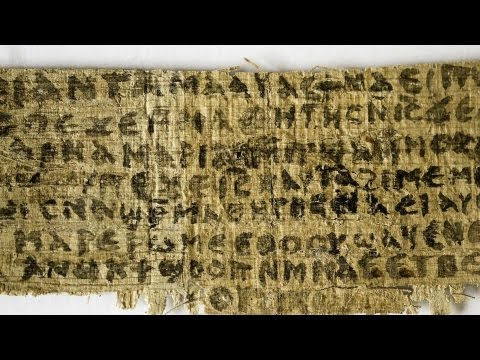 Papyrus scrap mentions Jesus' wife