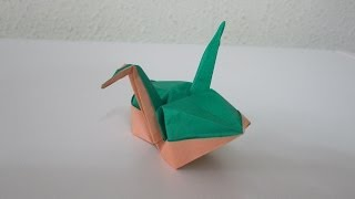 Tutorial - Origami Plump Crane From The Book 'crane Origami', Creator: Masahiko Ogawa
