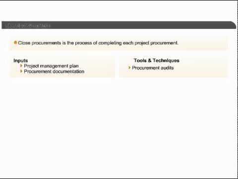 Close Procurements   Project Procurement Management    PMP Certification Training Online