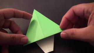 Origami Daily - 074: Christmas Tree (card Decoration) - Tcgames [hd]