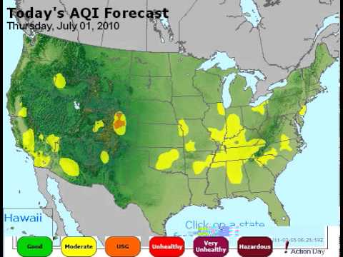 USA Color Coded Suicide by Air Pollution