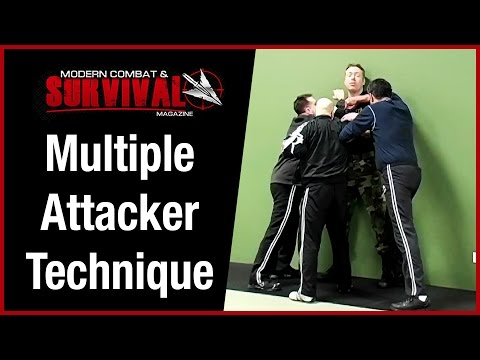 Self Defense Technique Against Multiple Attackers - Cornered Image 1