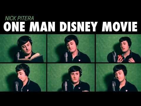 """One Man Disney Movie"" Nick Pitera Disney Medley Music Video"